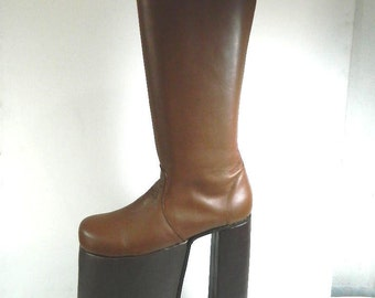 9937c179b389 WOMEN made to order Glam 70s rock 12 inches platform glam boots this is  high made to order choose height size and color