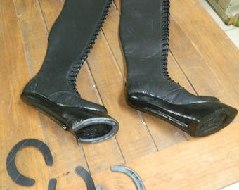 3d5112c5f1eaf costume Heelless Hooves made to order to your size and customized with real  iron horse shoe