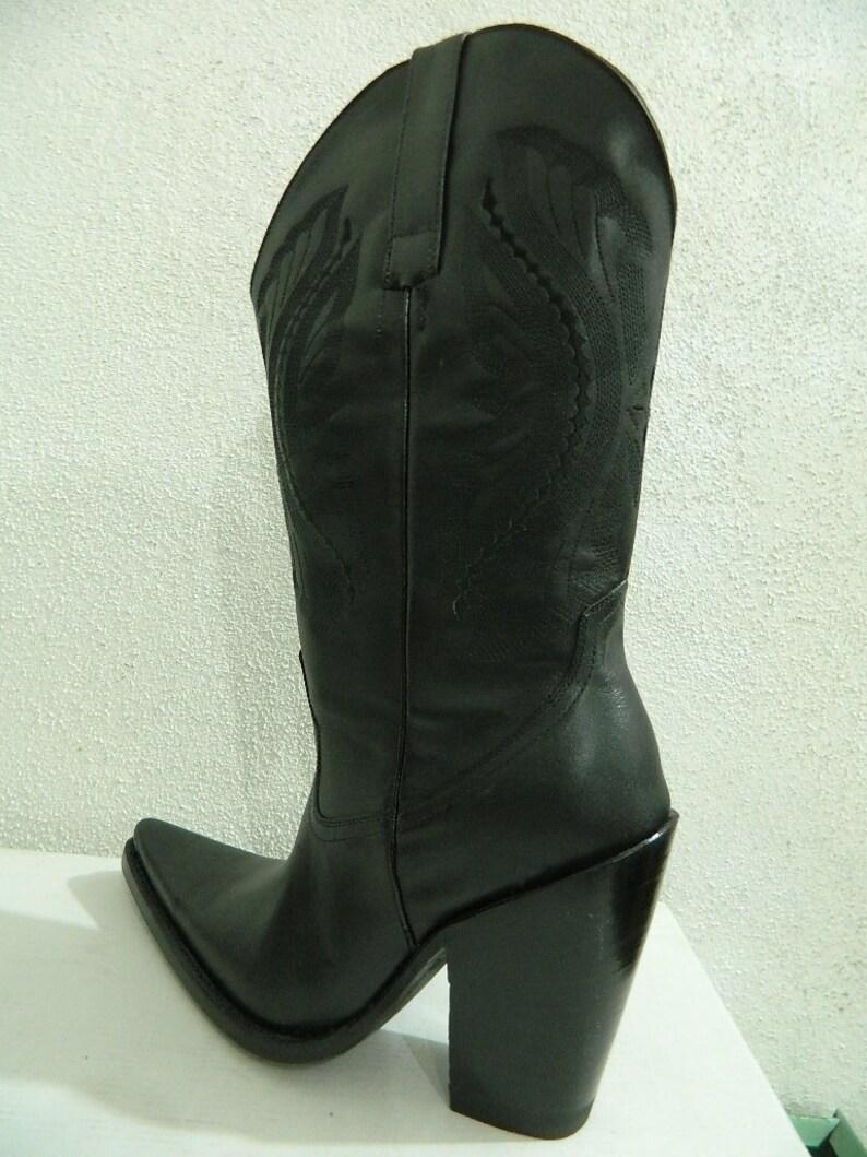 d2bd63717e4 MEN Made to order vowboy boots Sharp toe 5 inch heels mens size cowboy boots