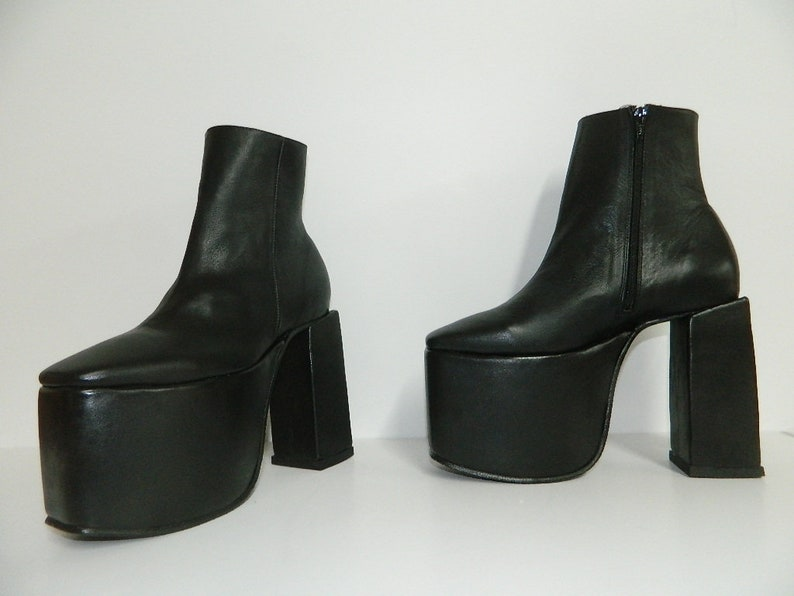 03268f957b6 Made to order platform 4 inches and heel at 6 inches 7 inch shaft with  inside zipper