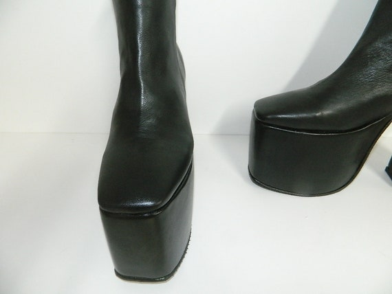 2fcb4551de645 Made to order platform 4 inches and heel at 6 inches 7 inch shaft with  inside zipper