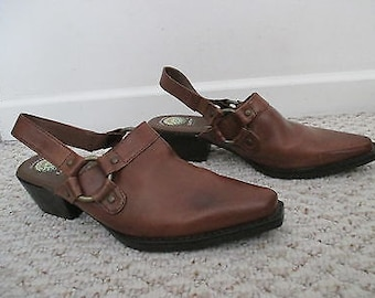 MEN made to order Harness mule shoes with back strap made to order