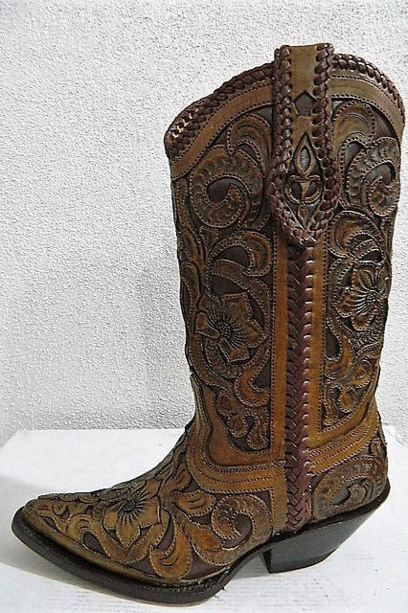 50d85033a8942 Hand tooled cowboy boot 3 style To choose from , hand tooled design hand  made and hand painted
