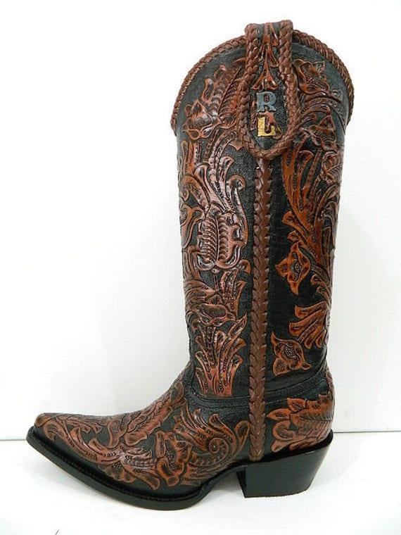 Les Les Les femmes fait sur commande à la main usiné des bottes de cow-boy sur commande n'importe quel style et toutes les tailles femmes taille | Finement Traité  4abaa6
