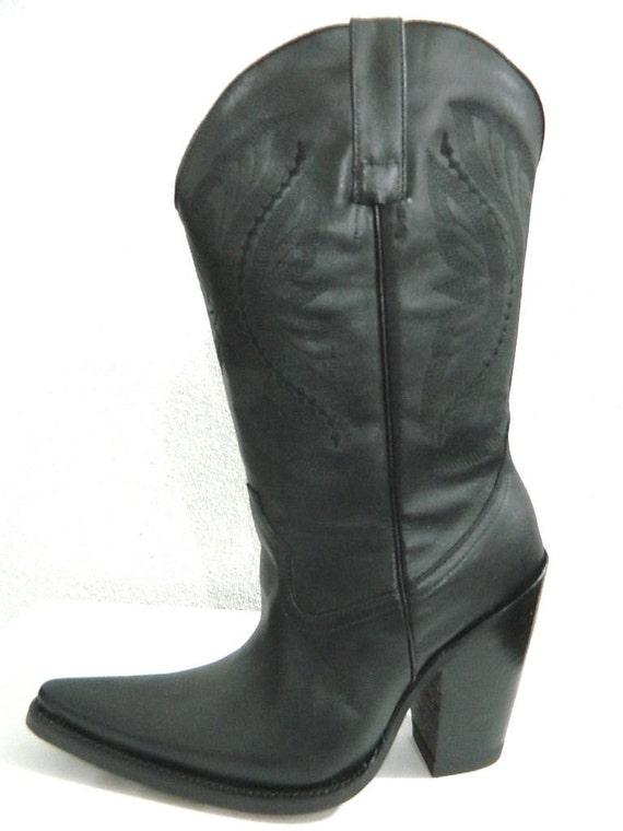1b87046aeb62b9 5 pouces talons tailles bottes de cowboy cowboy cowboy avec sharp allongé  pieds fait sur commande | Brillance De Couleur 9233e4