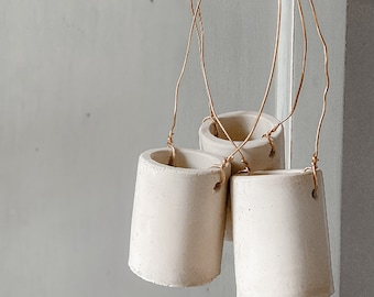Handcrafted Concrete Hanging Mini Planter/Vase