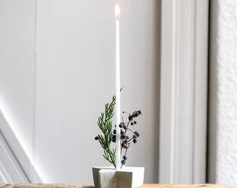 Handcrafted Concrete Star Shape Candle Holder Set