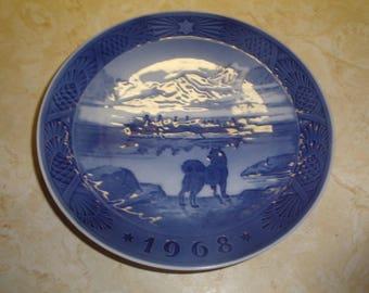 vintage royal copenhagen christmas plate 1968 the last umiak