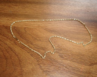 vintage necklace goldtone  chain western germany