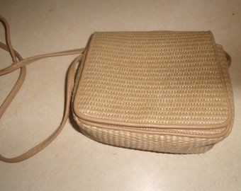 vintage purse handbag liz claiborne tan