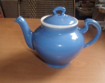 vintage tea coffee pot blue white shenango china new castle pa
