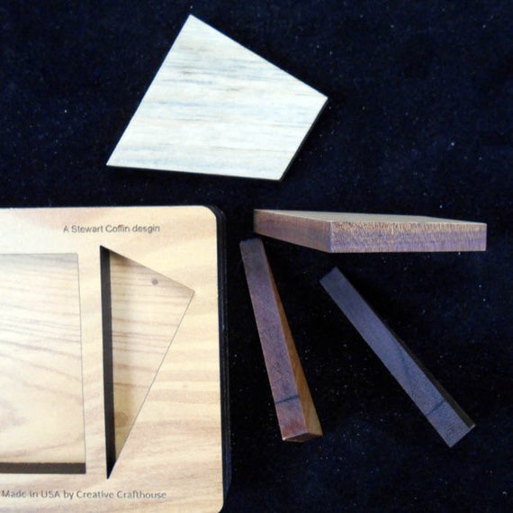Cruiser 4 pc wood brain teaser puzzle