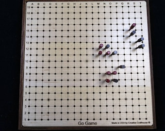 Go Game – Goban - compact and portable style with pegs for stability and ability to move an in-progress game. Pente board also