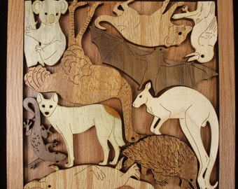 Animals of Australia Puzzle - Can Be Personalized With A Laser Engraved Name or Message