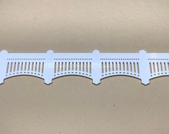 Yankee Stadium Wooden Facade 40 in by 5.2 in - thick white acrylic