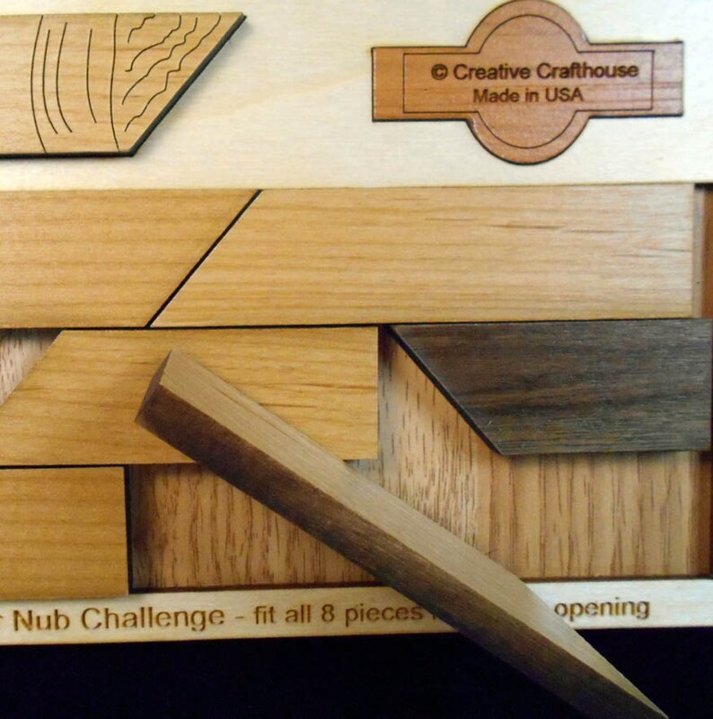 Woodworkers Challenge Puzzle Made in USA Creative Crafthouse