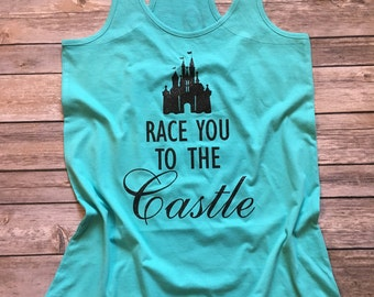 Disney Shirt, custom disney Shirt, Disney princess half marathon, Disney marathon, Race you to the castle, disney half marathon, 13.1