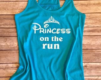 Disney Shirt, Disney Marathon Tank, Disney marathon, Princess on the run, half marathon, princess shirt, Disney princess half marathon,