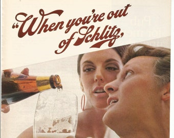 20d98547bb975 1968 Advertisement Schlitz Beer Out Of 68 60s Couple Mid Century Man Woman  Style Restaurant Pub Bar Wall Art Decor