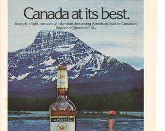 1979 Advertisement Canadian Mist Whisky Mt Christie Mount Mountain AB Alberta Canada Camping Bar Pub Wall Art Decor