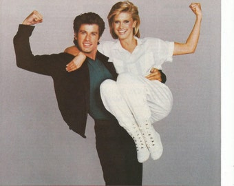 1984 Advertisement John Travolta and Olivia Newton-John in Two of  a Kind Movie 80s Charles Durning Scatman Crothers Wall Art Decor