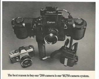 1971 Advertisement Canon Cameras and Lenses 70s SLR 35mm Photography Studio Lenses  Kit Wall Art Decor