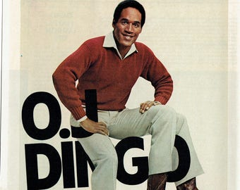 1980 Advertisement OJ Simpson for Dingo Boots NFL Player Fashion Style 3 Legs Celebrity Baron Collection Wall Art Decor