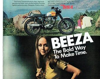 1969 Advertisement BSA 441cc Victor Special Motorcycle 69 Beeza 60s Motorbike Fashion Style Shop Garage Dealership Lot Wall Art Decor