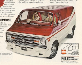1978 Advertisement Dodge Street Van Adult Toys Red White Owner Driver Collector Dealership Garage Shop Wall Art Decor