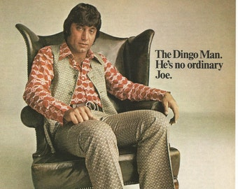 1971 Advertisement Joe Namath Dingo Boots NFL Football 70s Star Chair New York Jets LA Los Angles Rams Collectible Wall Art Decor