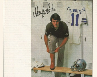1980 Advertisement Danny White for Texas Brand Boots Sports Dallas Cowboys Celebrity Mens Fashion Footwear  Sports Bar Pub Wall Art Decor