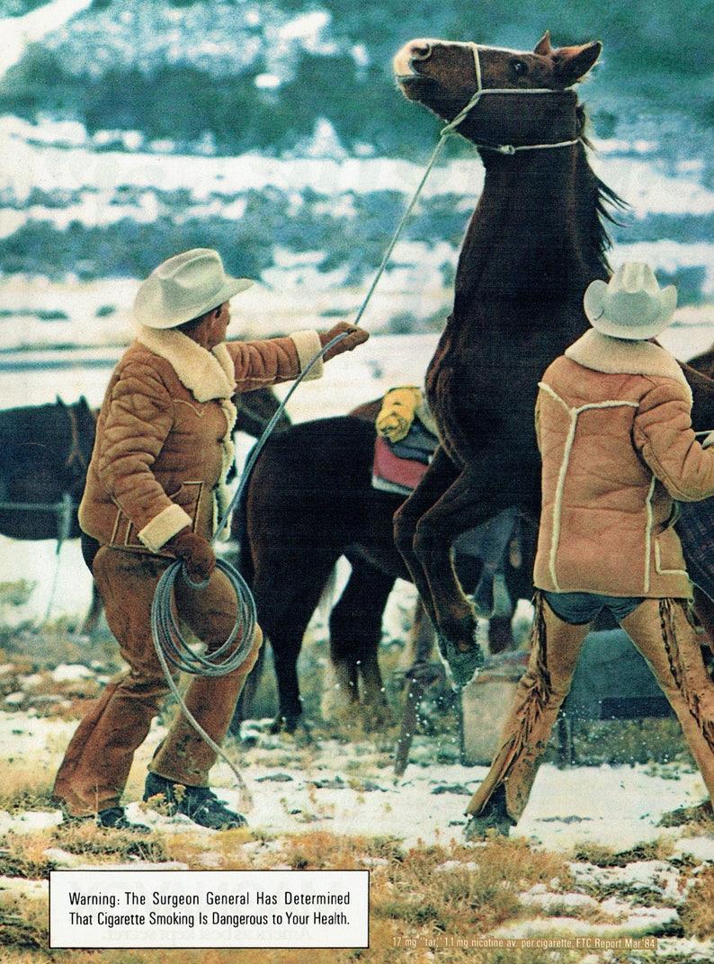 3982ce561ed55 1984 Advertisement 2 Page Marlboro Cigarettes American Cowboys