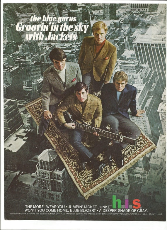 1968 Werbung H I S 60er Jahre Herren Jacken Blazer Anzug Stil Etsy