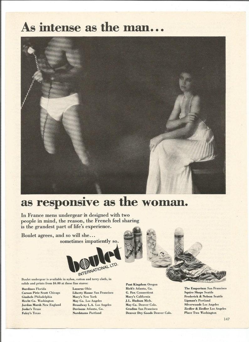 f413a396dbe6 1979 Advertisement Boulet International 70s Mens Underwear