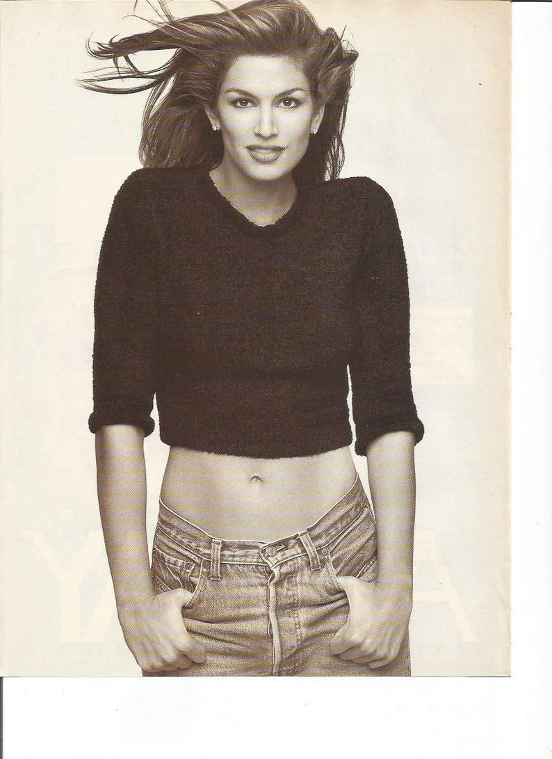 aae03d504 1997 Advertisement 2 Page Cindy Crawford for Fire   Ice Cool