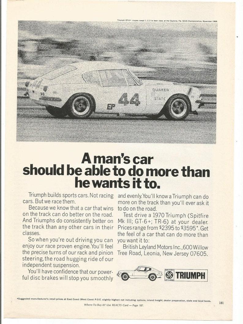 1970 Advertisement Triumph Spitfire A Mans Car Sports 44 Etsy