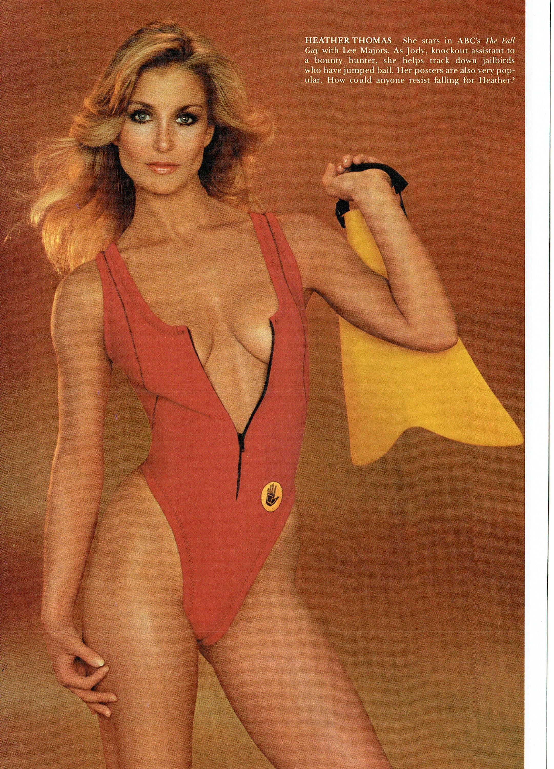 Vintage Heather Thomas Page From 1984 Playboys Women Of -3348