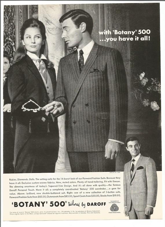 1967 Werbung Botanik 500 Zugeschnitten Menswear 60er Jahre Von Etsy