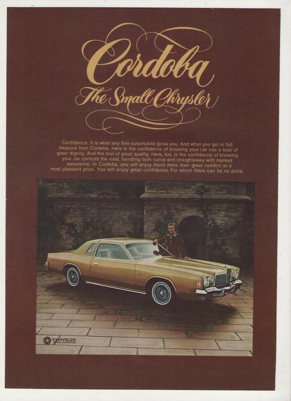 1976 CHRYSLER CORDOBA AD ART PRINT POSTER
