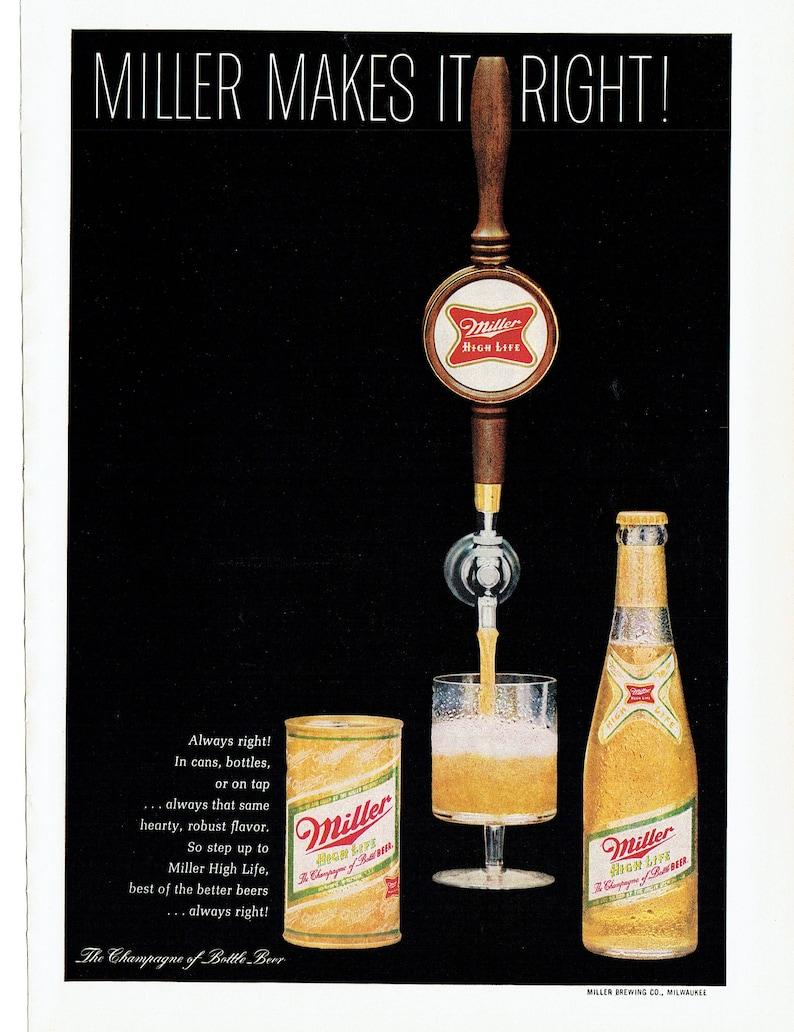 dc6ebd53314 1968 Advertisement Miller High Life Beer 60s Gold Bottle