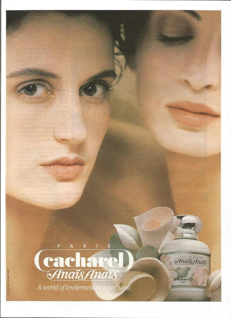 1994 Advertisement Cacharel Anais Anais Paris Perfume For Etsy