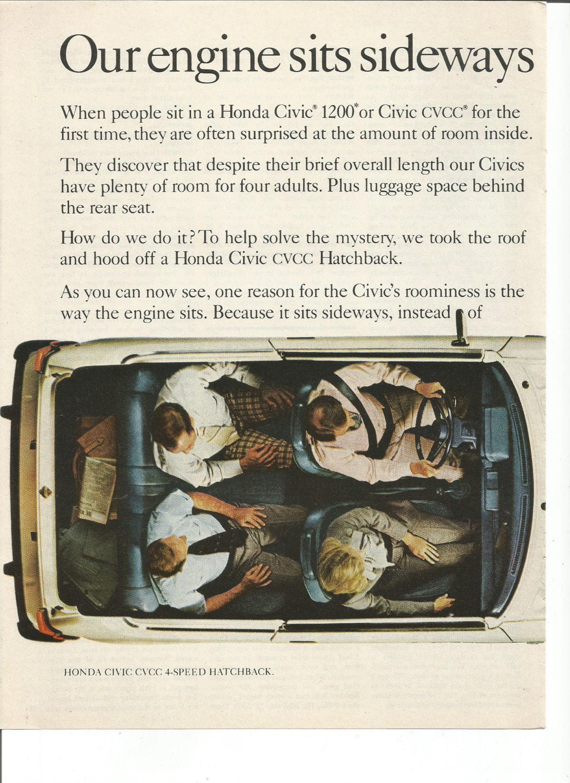 1978 Advertisement 2 Page Honda Cvcc Civic 4 Speed Hatchback Etsy 1970 Zoom