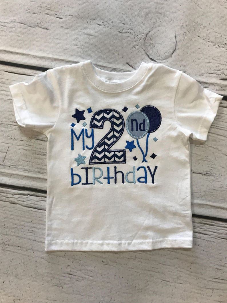 Boys 2nd Birthday Shirt Its My Embroidered