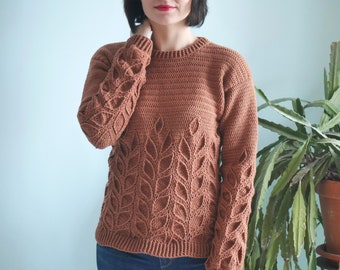 Crochet Sweater Etsy