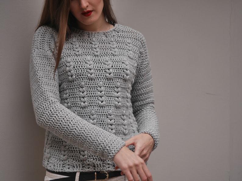 7a9db88fcbd8 Crochet Sweater Pattern PDF Rye Bread Sweater crochet crew