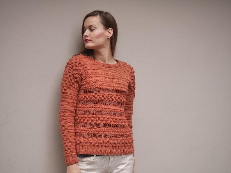 7cc93cb4eb1d Crochet Sweater Pattern PDF Textured Crew crochet crew