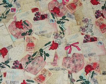 Fabric Postcard Etsy