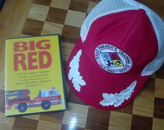 Firemen Fire Truck Cap Hat Kid s DVD Big Red d469ffb03dbe