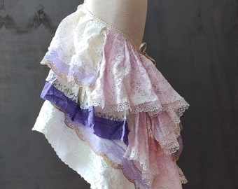 Tattered fairy. Girls dress size 8. Trashed girls dress. Rustic wedding. Flower girl dress. Alternative wedding. Shabby girls dress
