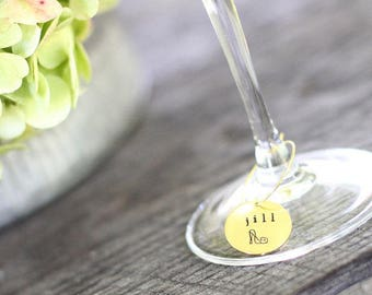 Bridal Shower Wine Glass Charms, Personalized Wine Glass Charms, Wine Glass Tags, Wine Tasting Party, Wine Bridal Shower Favors, Wine Theme
